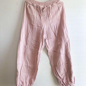 Blush Pink Boho Anthropologie Pants